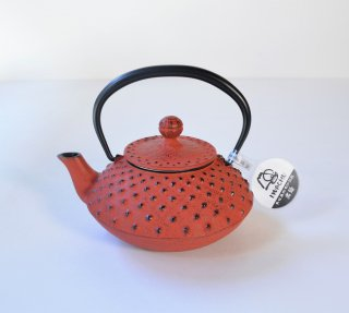 南部鉄器 急須 3型アラレ 黒/赤茶