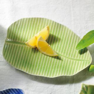 Leaf バナナリーフプレート グリーン M