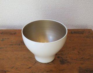 食洗機対応・モダンボウル 白シャンパンゴールド(越前塗)
