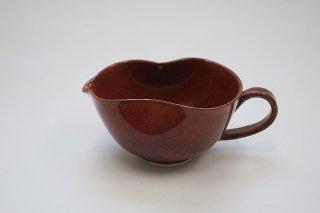 柿釉手付ミニ片口(京焼)