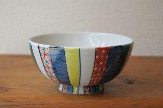 色絵小紋飯碗(九谷焼)