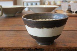 黒輪線紋飯碗(京焼)