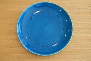 トルコ青櫛目丸皿