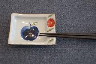 りんご園角小皿(波佐見焼)