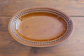 スカンジナビア楕円皿(ブラウン)