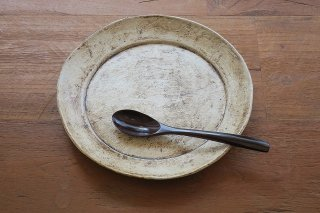 錆化粧8寸リム皿(鈴木智尋)