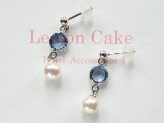 【Akoya Pearl pierced earrings  B】