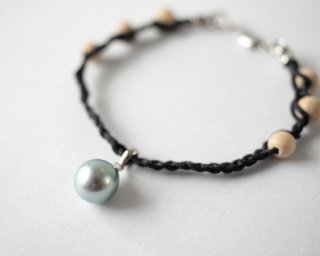 【Tahitian  Pearl  bracelet  navy 】