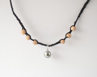 【Tahitian  pearl  necklace  Navy 】