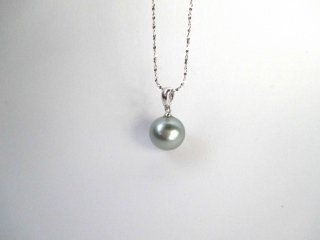 【Tahitian Pearl  silver necklace2】