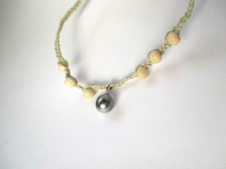 【Tahitian Pearl necklace K1】