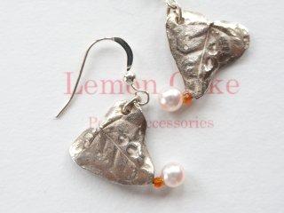 【Silver pierced earrings  Heat】