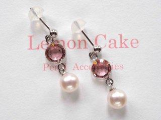 【Akoya  Pearl pierced earrings P 】