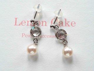 【Akoya Pearl pierced earrings c】