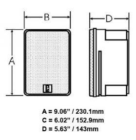 200812<br>ポリプランナー MA9060 ボックススピーカー200WATTS<br>(MA9060-W)
