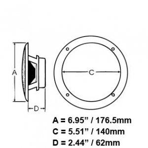 200835<br>PolyPlanar チタニウムシリーズ 3 ウェイスピーカー5&#34;<br>(MA8505-B)