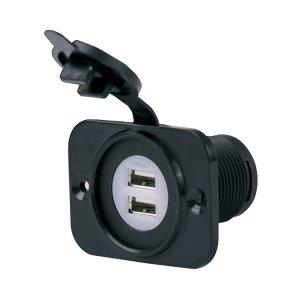 226317<br>Marinco USB 12-24V DUAL&マ ウントプレート<br>(12VDUSB-B)