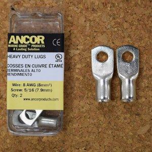 227343<br>Ancor #8 HD Eye 端子 5/16&#34;アイ(2個)<br>(252235)