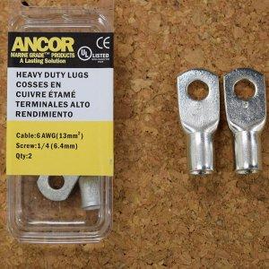 227347<br>Ancor #6 HD Eye 端子 1/4&#34;アイ(2個)<br>(252244)