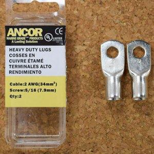 227354<br>Ancor #2 HD Eye 端子 5/16&#34;アイ(2個)<br>(252265)