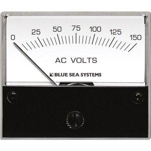 227541<br>BlueSea 電圧計 アナログ AC 0-150 V (W66.7XH60.3)<br>(9353)