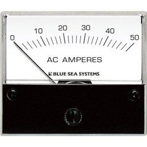 227548<br>AC ANALOG AmmETER 0-50 Amp + COIL<br>(9630)