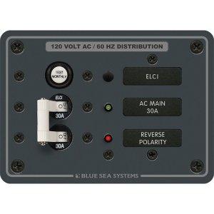 299910<br>BlueSea 漏電ブレーカーパネル付120VAC <br>(8100)
