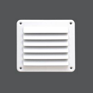 317282<br>ABS FLUSHルバーベント  140X125mm 白色<br>(KH27405W)