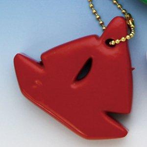 370130<br>フローティングキーホルダー <br>(ヨット型)赤