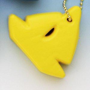 370132<br>フローティングキーホルダー <br>(ヨット型)黄
