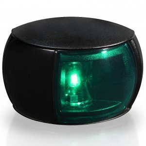 740222<br>Hella 右舷灯 LEDコンパクト 黒 8-28V<br>(2LT980520261)
