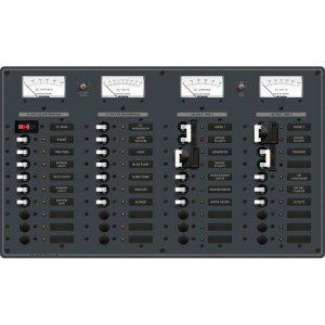 227492<br>BlueSea スイッチパネル 20 x 120VAC+20 x 12VDC<br>(8086)