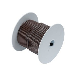 230305 Tin電線#18(0.8mm2)茶色/30M巻 (100210)
