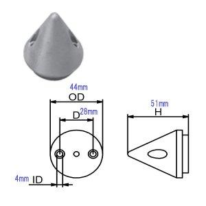321047<br>MAX Prop 2-Blade ZINC for63mm<br>(CMMP63M2BZ)