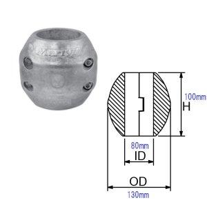 321213<br>防蝕亜鉛リング CMX-80mm<br>(CMX80)