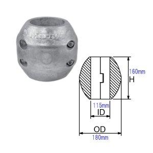 321219<br>防蝕亜鉛リング CMX-115mm <br>(CMX115Z)