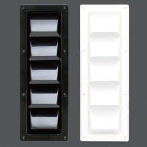 317051<br>ABS ルーバーベント305(338) x 83(121)mm Black<br>(KH27290)