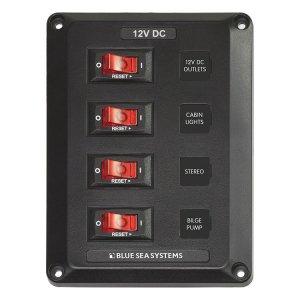 300191<br>DC スイッチ パネル 12VDC CB 4 Pos<br>(4350)