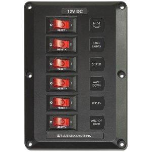 300193<br>DC スイッチ パネル12VDC CB 6 Pos<br>(4352)