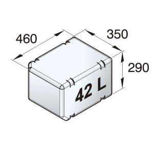 601091<br>ポリエチレン多目的タンク 42 L<br>(ATANK042)
