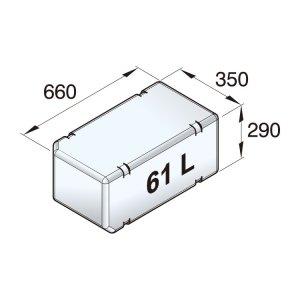 601092<br>ポリエチレン多目的タンク 61 L<br>(ATANK061)