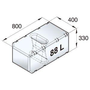 601093<br>ポリエチレン多目的タンク 88 L<br>(ATANK088)