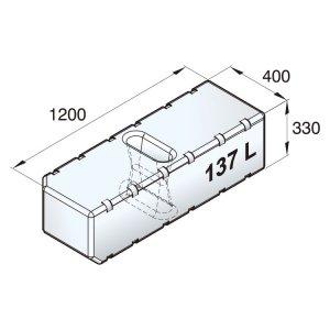 601095<br>ポリエチレン多目的タンク 137 L<br>(ATANK137)