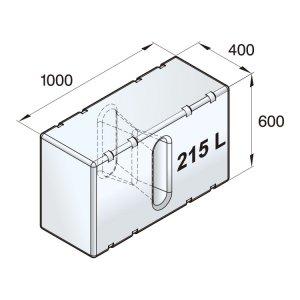 601097<br>ポリエチレン多目的タンク 215 L<br>(ATANK215)