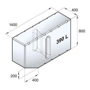 601099<br>ポリエチレン多目的タンク 390 L<br>(ATANK390)