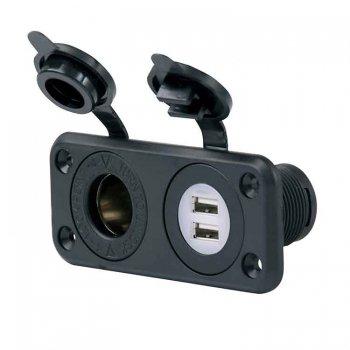 226318<br>Marinco 12V Dual USB and Socket<br>(12VCOMBO)