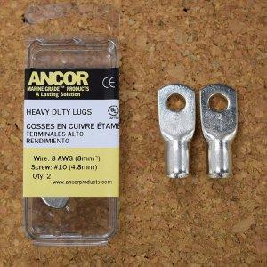 227341<br>Ancor #8 HD Eye 端子 #10アイ (2個)<br>(252233)