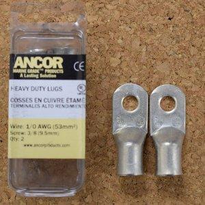 """227360<br>Ancor #1/0 HD Eye 端子 3/8""""アイ(2個)<br>(252286)"""
