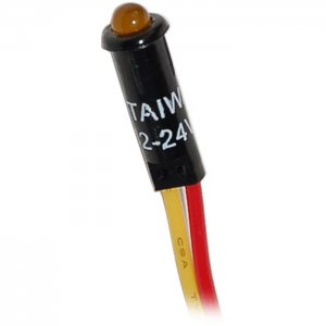 227493<br>BlueSea LED 表示ライト Amber for 12/24V DC パネル<br>(8033)