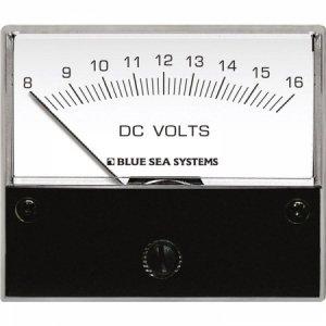 227539<br>BlueSea 電圧計 アナログ DC 8-16 V (W66.7XH60.3)<br>(8003)